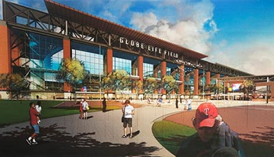 Globe Life Extends Naming Rights Partnership to Texas Rangers New Ballpark article thumbnail