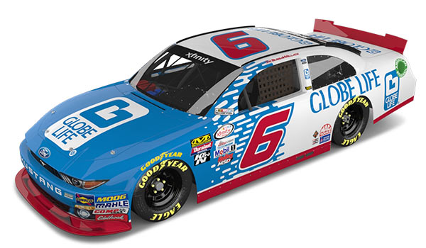 Bubba Wallace #6 Car, Globe Life, Roush Fenway Racing