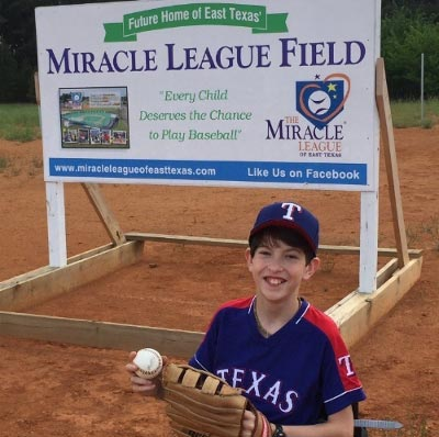 Miracle League of East TX Throws First Pitch